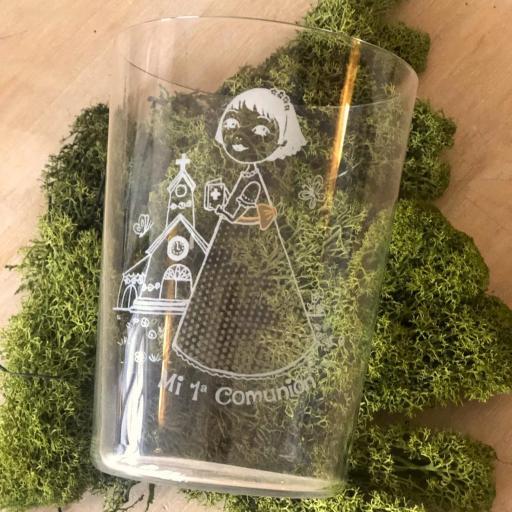 Vaso de Sidra Niña Comunión con Botella de Sidra Natural Llagarín [1]