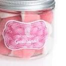 Vela Patuco Rosa Perfumado con Bote gominolas rosa/azul [2]