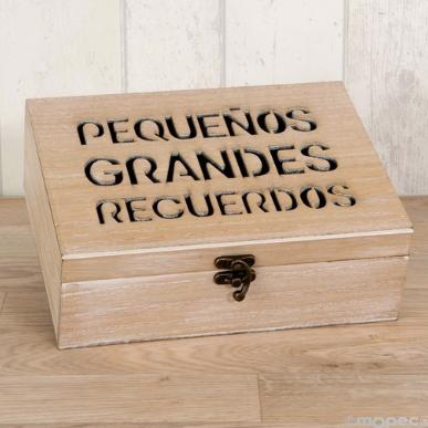 Cofre de madera para mensajes