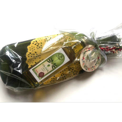 Vacíabolsillos Botella de Sidra Grande con Aceite de Oliva