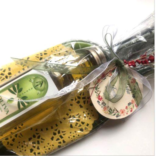 Vacíabolsillos Botella de Sidra Grande con Aceite de Oliva  [1]