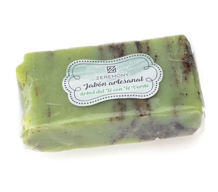 Jabón Artesanal sde Árbol de Té con Té verde