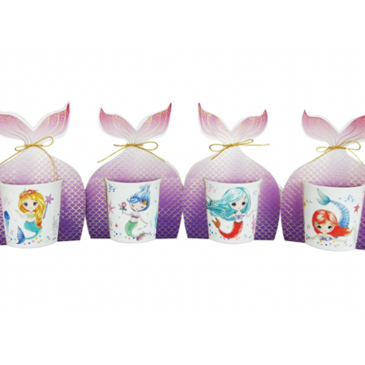 Taza Sirena con Colacao y espejo purpurina [1]