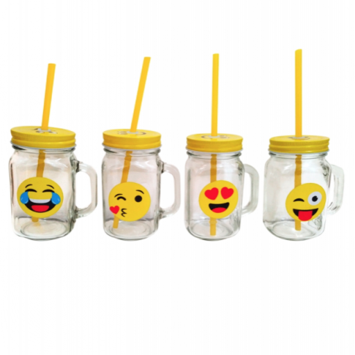 Jarra Emoji con colacao y galletas [1]