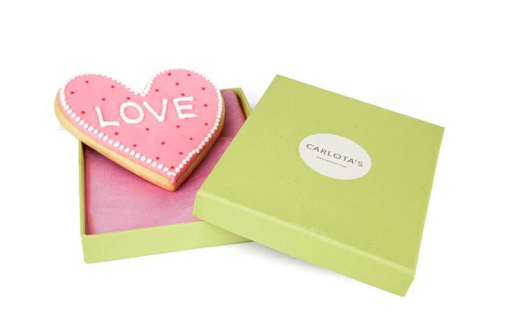 Carlota's Cards Galleta especial Regalo Corazón