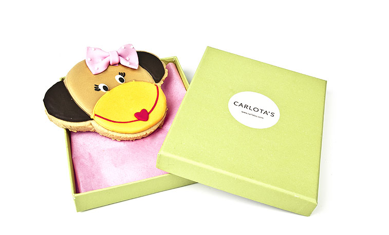 Carlota's Cards Galleta especial Regalo Monkey