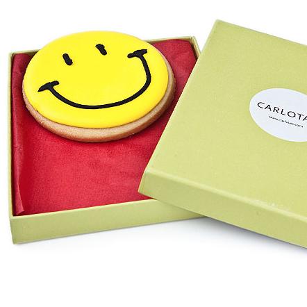 Carlota's Cards Galleta especial Regalo Sonríe