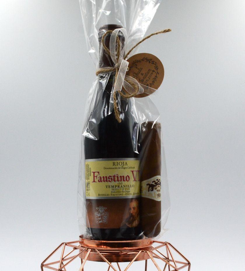 Vino Faustino con puro de Chocolate