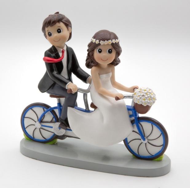 Figura Novios en Bicicleta