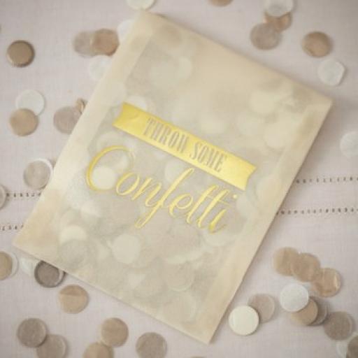 Bolsita Confeti Dorado
