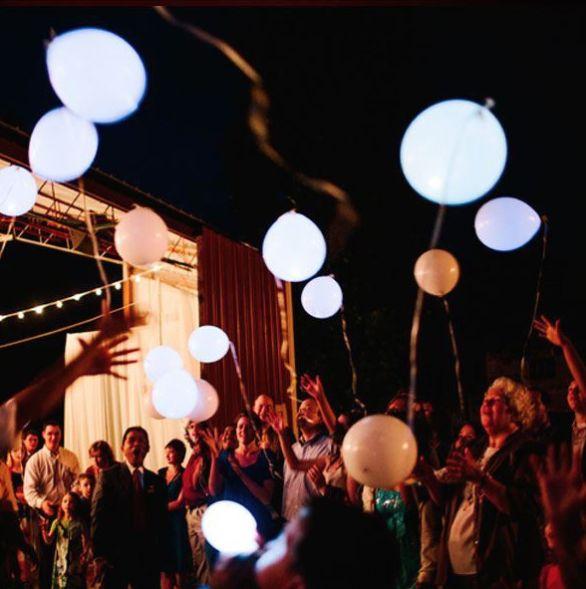 Globo Blanco con Luz Led