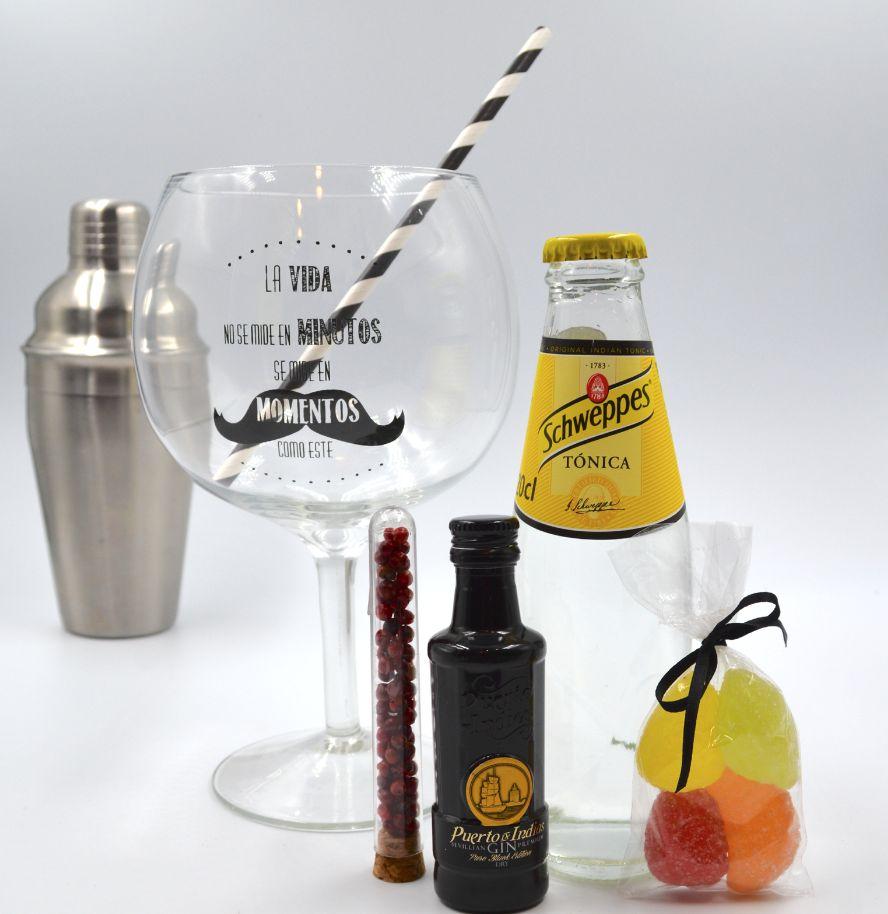 Kit Gin Tonic Puerto de Indias Classic & Tónica Schweppes