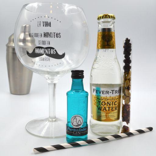 Kit Gin Tonic Puerto de Indias Classic & Fever Tree Tónica