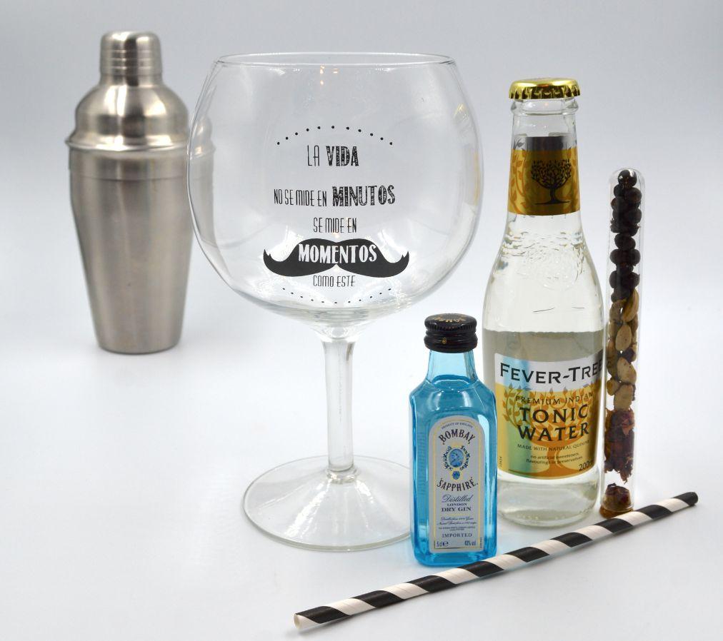 Kit Gin Tonic con Ginebra Bombay Saphife & Fever Tree Tónica