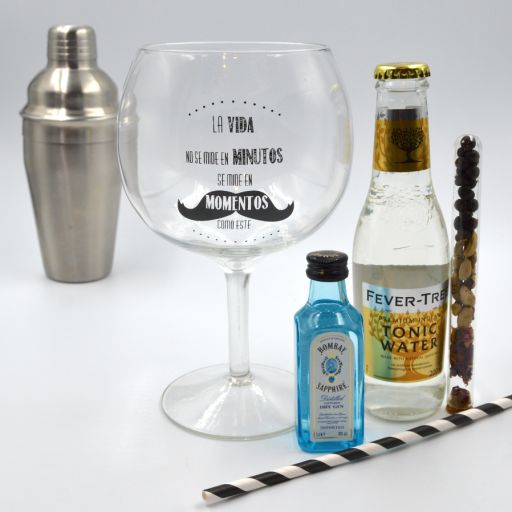 Kit Gin Tonic con Ginebra Bombay Saphife & Fever Tree Tónica