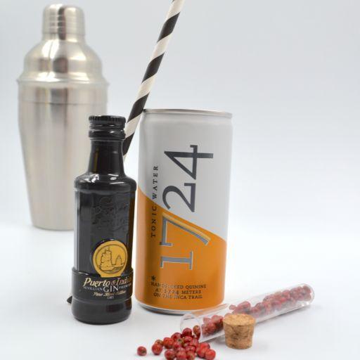 Kit Gin Tonic Puerto de Indias Classic & Tonic Water 1724 [2]
