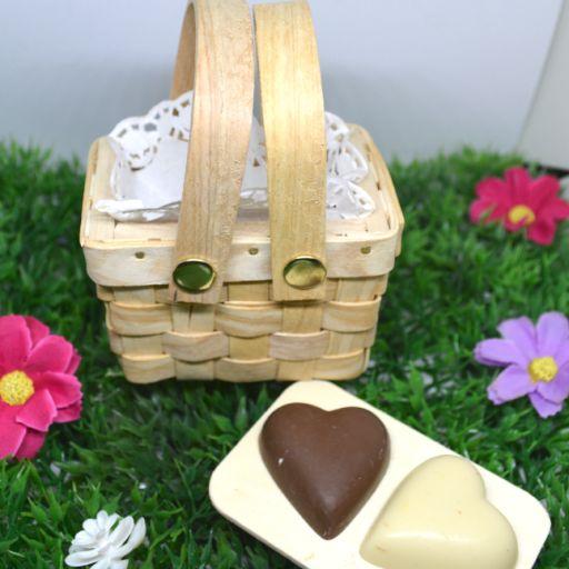 Mini Cesta Pic nic con  Chocolate Belga  Bombones rellenos [1]