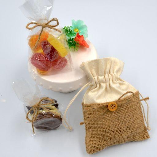 Bolsita tela de saco con  Chocolate Belga o Fruta Italiana [1]