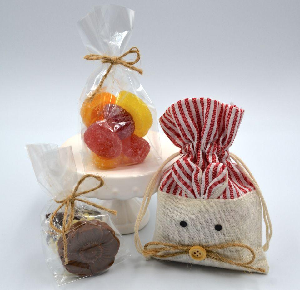 Bolsita con  Chocolate Belga o Fruta Italiana