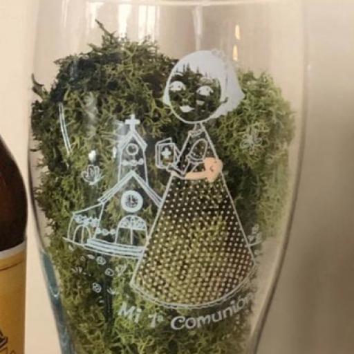 Cerveza Artesana con Vaso  personalizado Niña [1]
