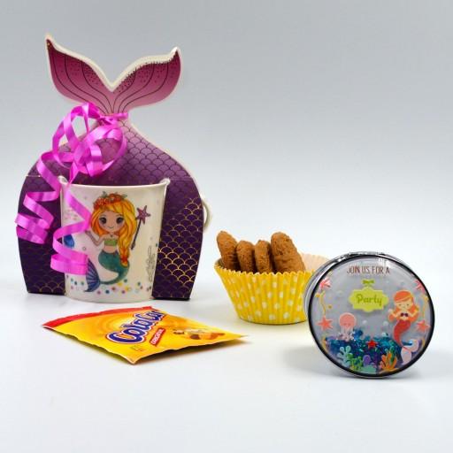 Taza Sirena con Colacao y espejo purpurina