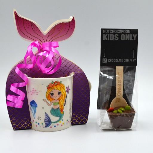 Taza Sirena con cuchara de chocolate