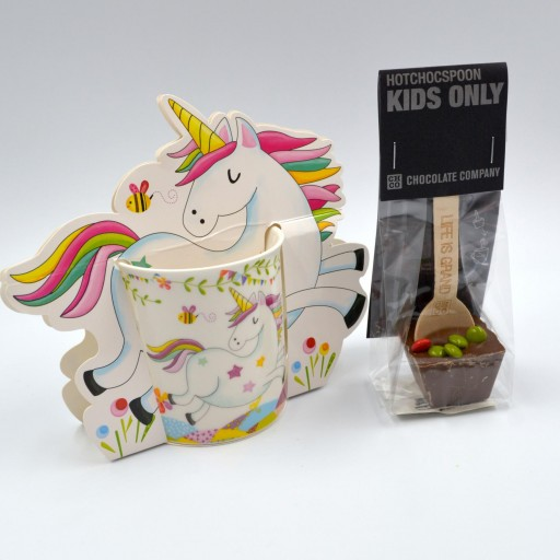 Taza Unicornio con cuchara de Chocolate