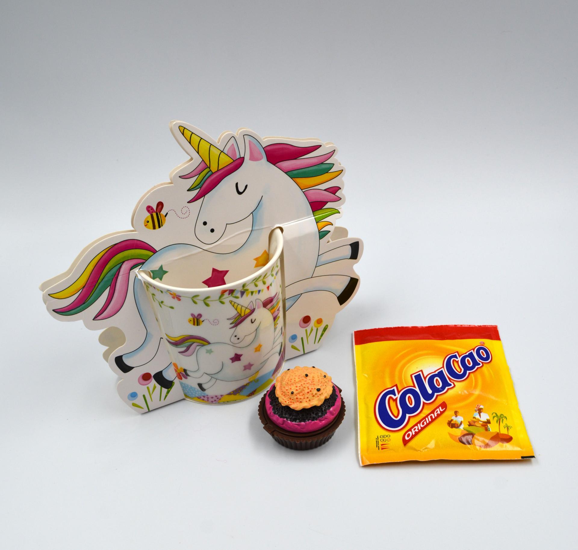 Taza Unicornio con Cupcake balsamo de Labios