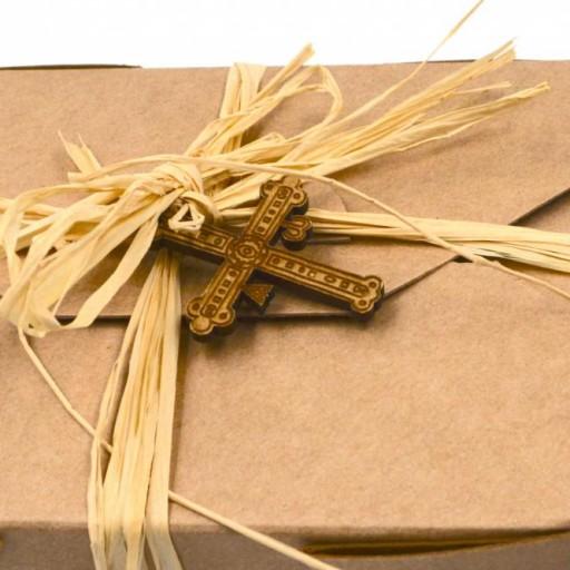 Mermelada de Peras al Ron en caja con cruz de madera [2]