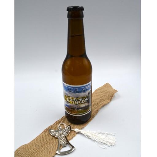 Cerveza Artesana con Etiqueta personalizada con abridor Ángel