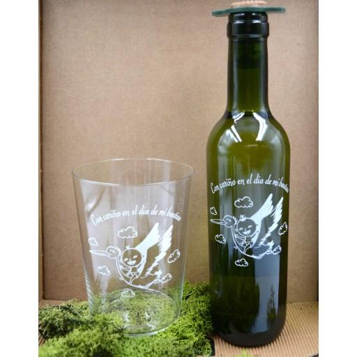 Vaso de Sidra Bautizo con Botella de Sidra Natural Llagarín [0]