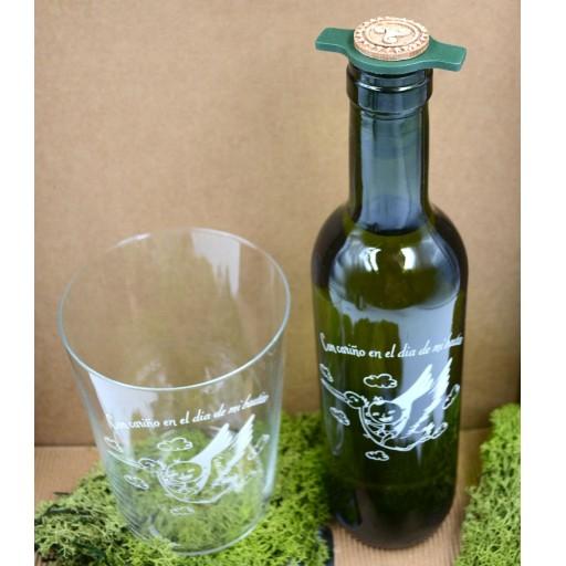 Vaso de Sidra Bautizo con Botella de Sidra Natural Llagarín [1]