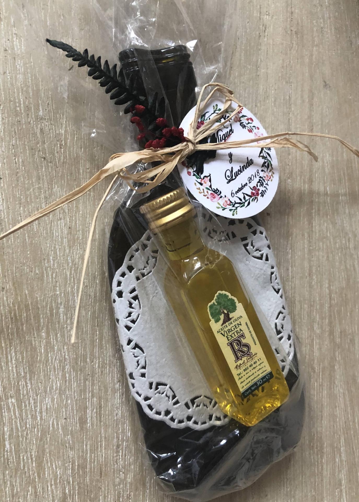 Vacíabolsillos Botella de Sidra con Aceite de Oliva