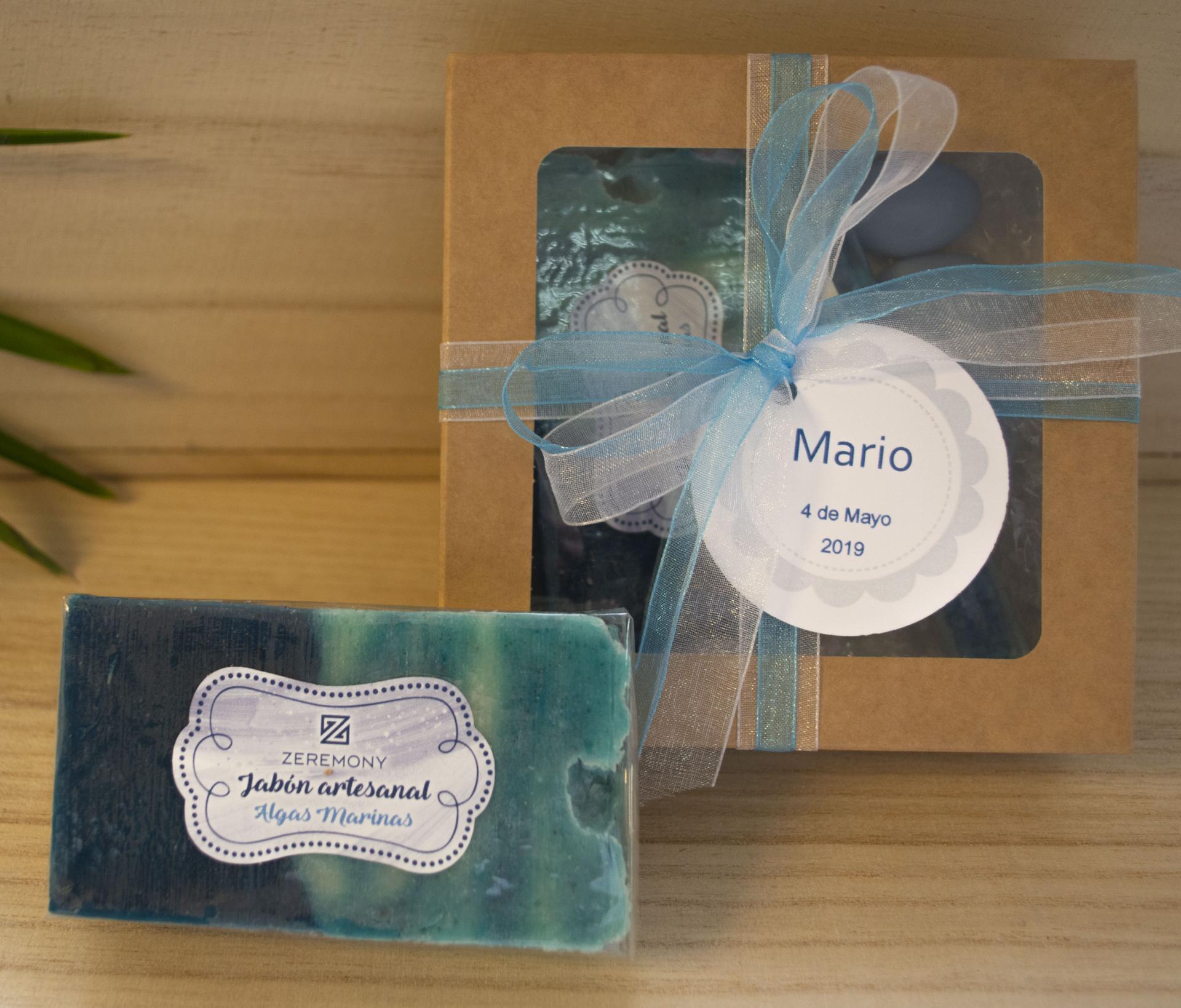 Caja Kraft con Jabón  Algas Marinas  y Sales de Baño