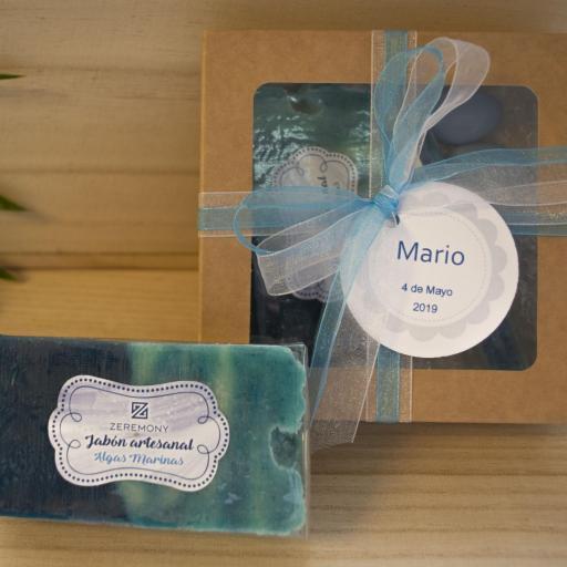 Caja Kraft con Jabón  Algas Marinas  y Sales de Baño [0]