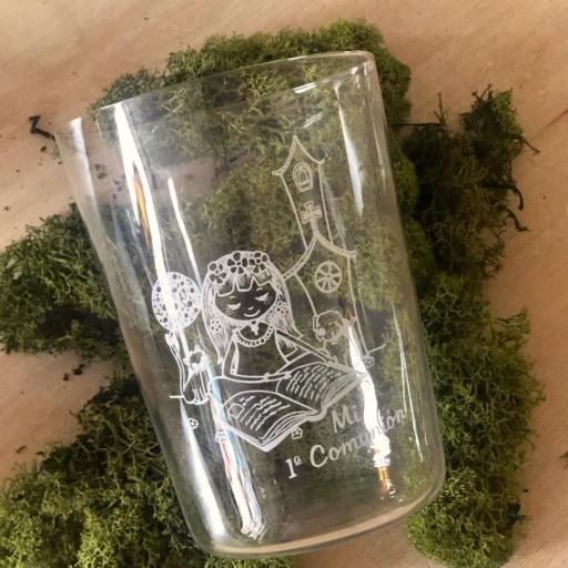 Vaso de Sidra Comunión Niña con Botella de Sidra Natural Llagarín [1]