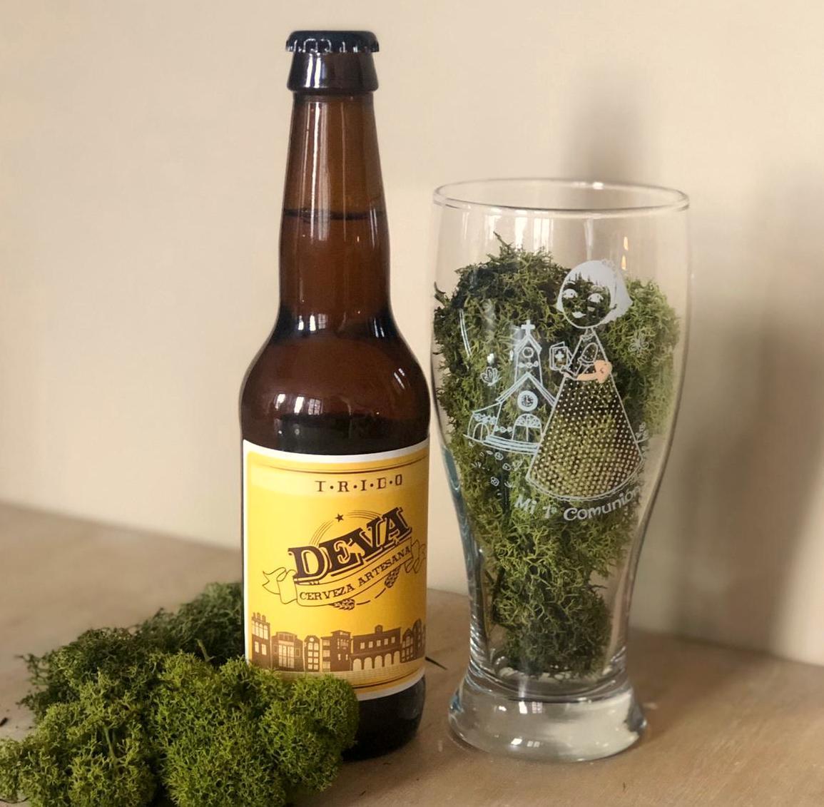 Cerveza Artesana con Vaso  personalizado Niña