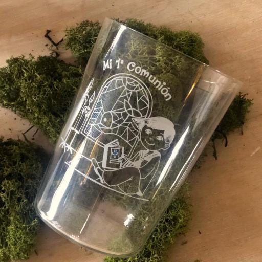Vaso de Sidra Comunión Niño con Botella de Sidra Natural Llagarín [1]