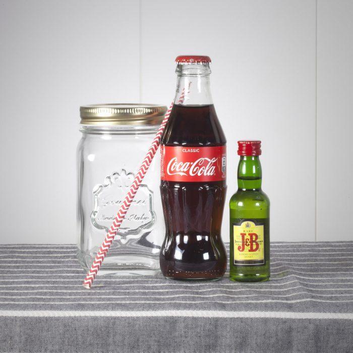 Jarra J.B. & Coca cola
