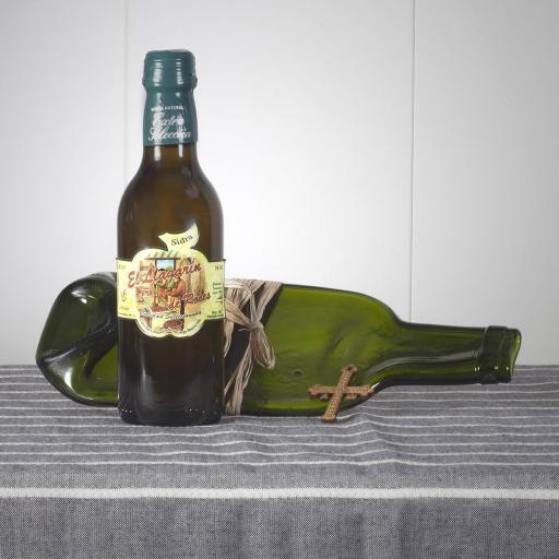 Vacíabolsillos Botella de Sidra  y Artesanía de arcilla