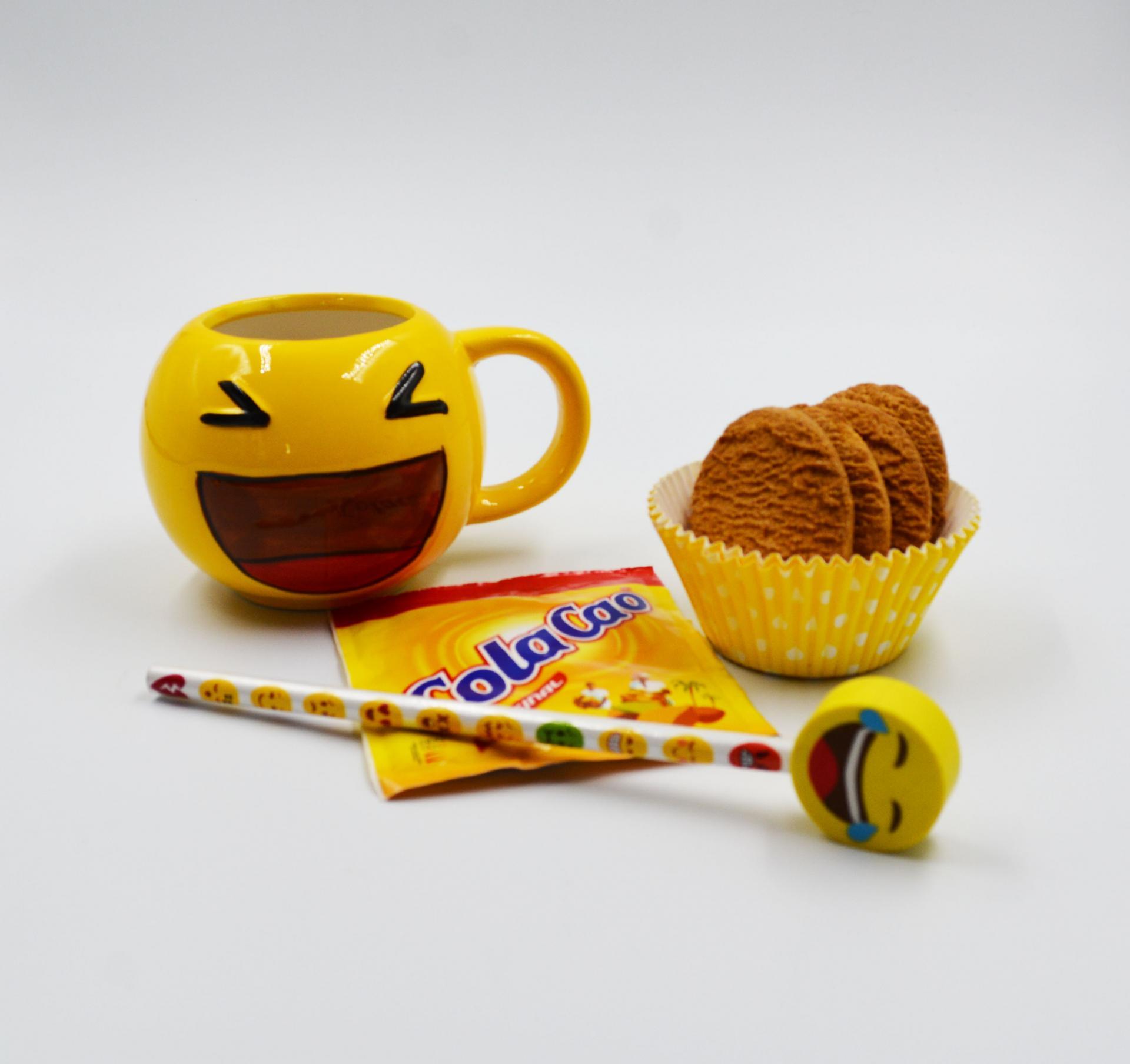 Taza Emoji set Merienda