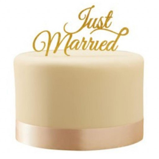 Topper para Tarta de Boda Just Married [1]