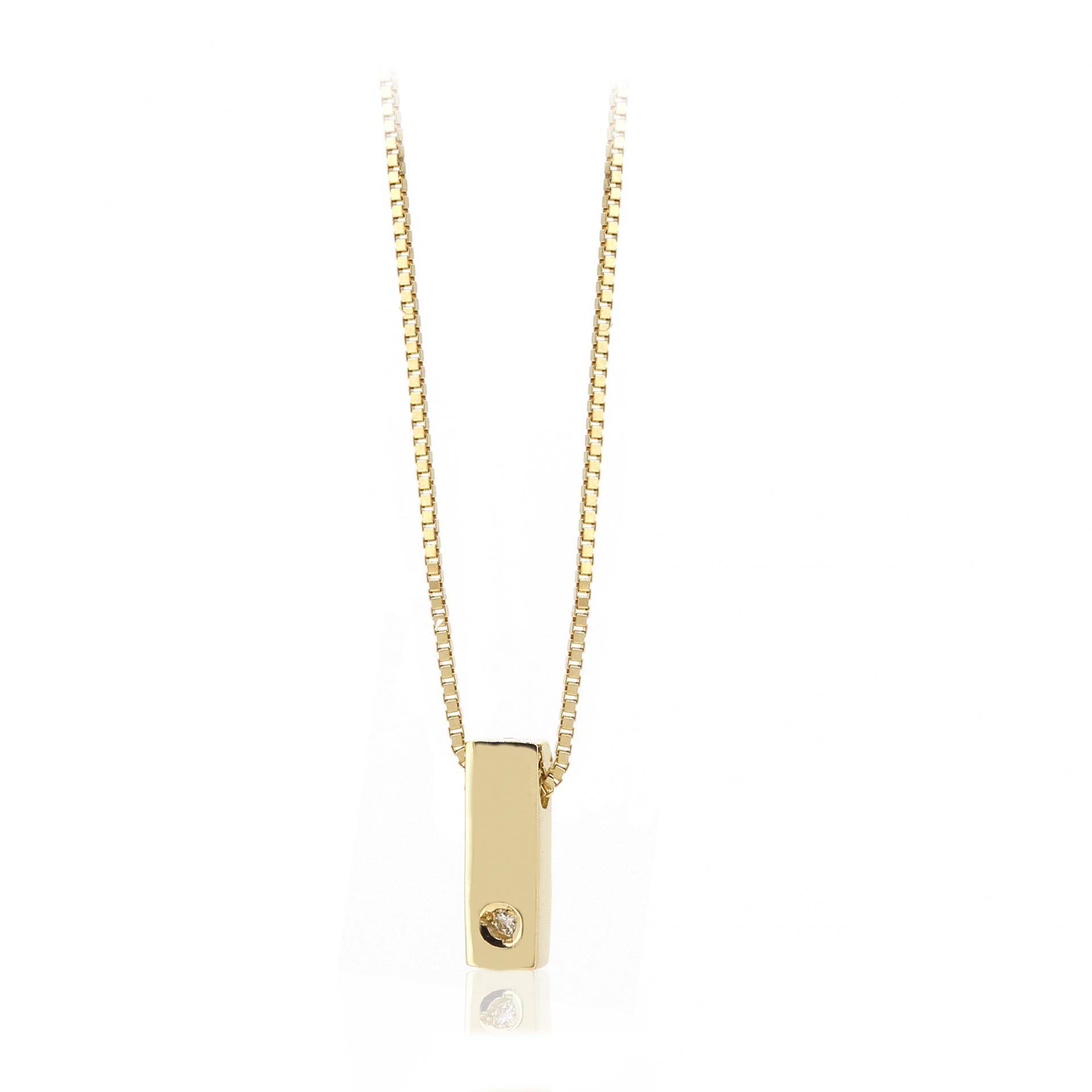 Gargantilla inicial de oro I con brillante Ref. FOD709I