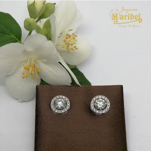 Pendientes Oro Blanco Diamantes Ref. OB0D01 [1]