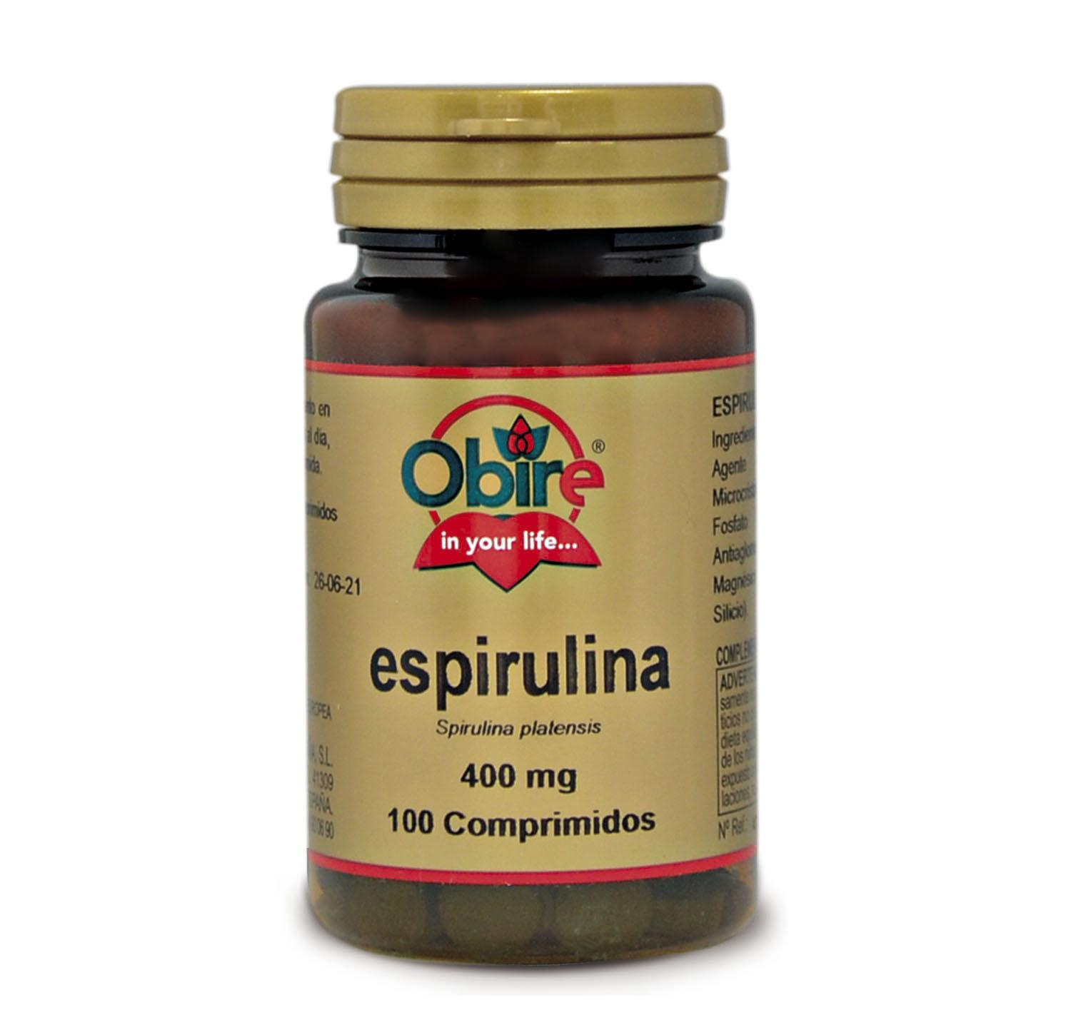 ESPIRULINA 400 mg  100 comprimidos
