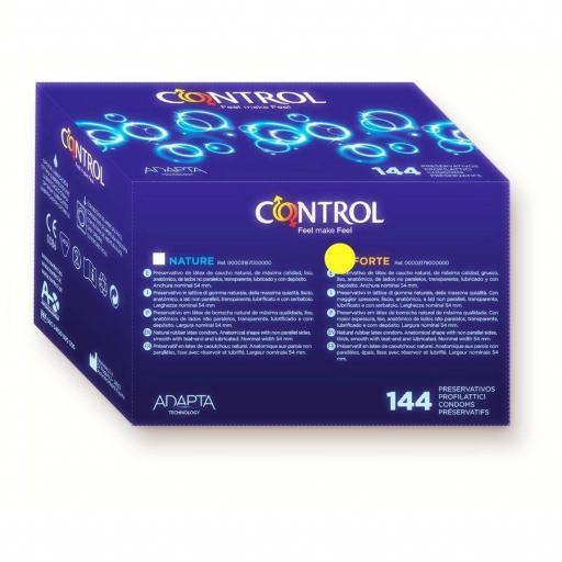PRESERVATIVOS CONTROL NATURALES 144 unidades