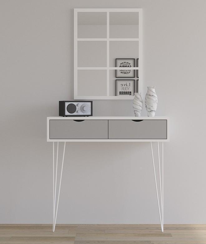 consola moderna color blancoi