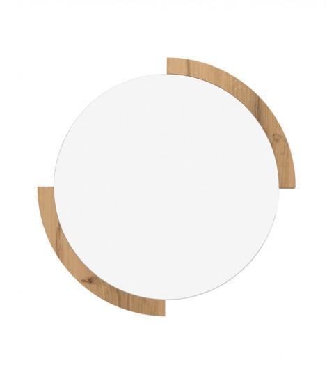 Espejo de pared redondo Clock Roble 1
