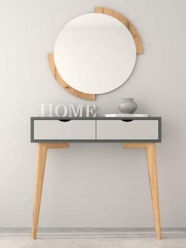 Espejo de pared redondo Clock Roble 1 [2]