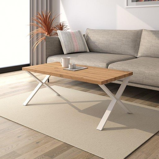 MESA DE CENTRO TOP BASE ASPA ROBLE1-BLANCO